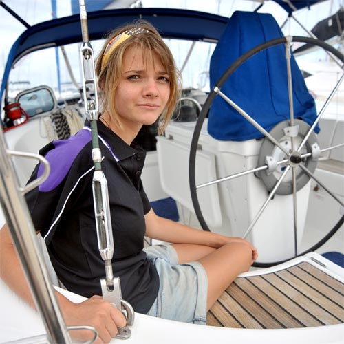 Not your average teen adventurer, Jessica Watson plans to be the youngest person to sail around the world. Photo: Brett Wortman/180751