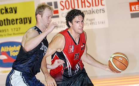 John Fitzgerald, right, will be a key player for the Meteors in this weekend's road trip to Rockhampton and Gladstone.