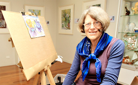 Still-life artist Judith Sutton is being featured this month in theArtist's Corner at Escape Gallery