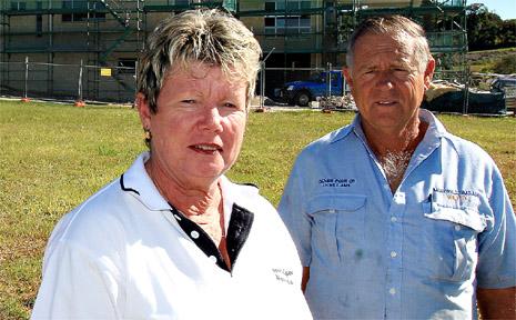 Developer Leonie Turner with husband Barry at Sovereign Estate.