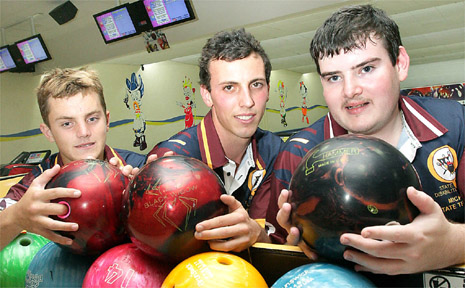 LOOKING forward to representing Queensland in the national disability ten pin bowling championships in Melbourne are Adam Sutherland, Alan Crammond and Michael Boyd who all bowl at the Twin Towns Bowling Alley.