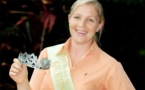 Mackay Regional Sugar Festival Queen 2009 entrant Jackie Richters is looking forward to this weekend and hopes she will be in with a shot at winning the title.