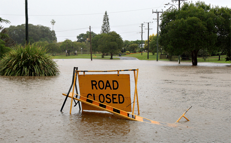 Roads were closed in South Murwillumbah Thursday.