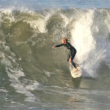 Surfers made the most of big waves at Mooloolaba Beach on April 21, 2009. Photo:Brett Wortman/182716