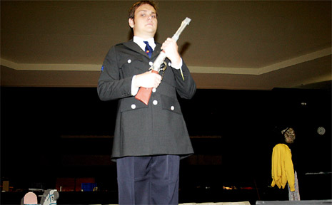 Actor Lachlan Glasby in the Tweed production of Ruby Moon.