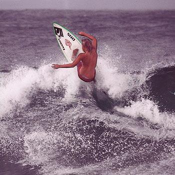 Kelly Norris shreds in last week's Queensland School Surfing Titles.