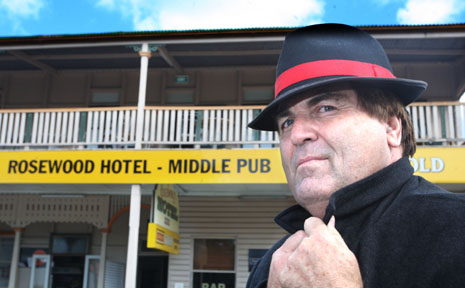 URBAN LEGEND: Councillor David Pahike, co-owner of the Rosewood Hotel, will conduct a ghost hunt at the haunted hotel.