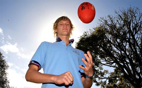 AFL Queensland team representative Nathan Sharp, 15, of Kingscliff.