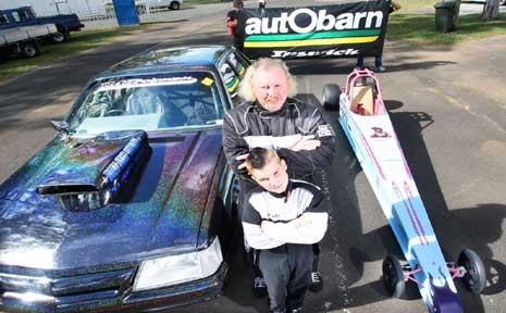 Mark Blackwood and son Jesse Skinner will be competing at the Winternationals this weekend at Willowbank Raceway.