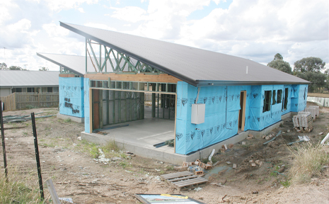 UNFINISHED BUSINESS: One of the three incomplete homes in Biloela's Brigalow Lakes estate.