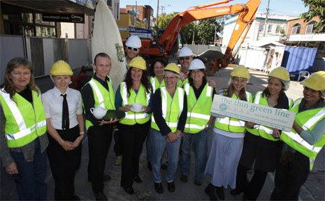 Members of the local business community inspect the current roadworks in Murwillumbah's CBD.