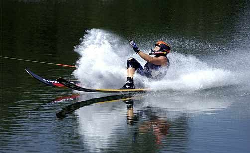 Water ski champ Emma Sheers trains on the Sunshine Coast. Photo:Warren Lynam/116626