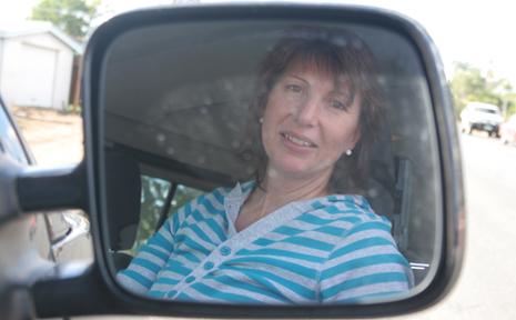 DANGER: Leanne Kuprynsky fears more B-double semi-trailers on the road.
