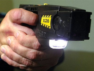 A Mackay police officer has used a Taser to restrain a 23-year-old woman.