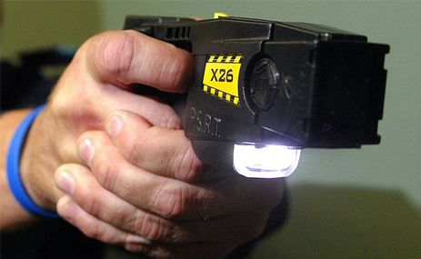 A taser was used to apprehend the man.
