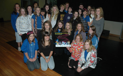 Mullumbimby High School students celebrate their achievements in the Queensland Health Rock Eisteddfod Challenge.