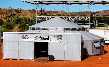 The Q150 Shed – an entertainment venue based on the iconic Australian woolshed – will visit Mackay next week with a full program of entertainment.