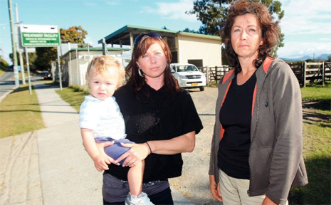 ANGELA Georgopolous, with son Christos, and her mother Susan Bugdon have called for changes at the Kirra tick spray yard following the horrible death of their horse Shar.