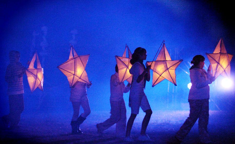 A peformance at the Lismore Lantern Parade.