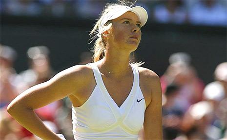 Russian tennis star Maria Sharapova.
