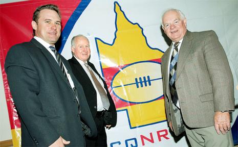Steve Dowden, Ken Weir and Geoff Murphy were backing the CQ NRL bid yesterday.