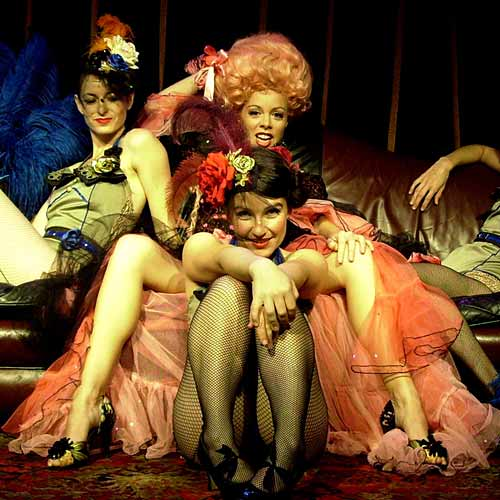 Ladies from La La Parlour's Tarnished Burlesque Show. Photo:Contributed