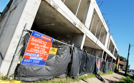 The Latitude development at the corner of Brisbane and Gordon streets is up for sale again after a contract on the property fell through.