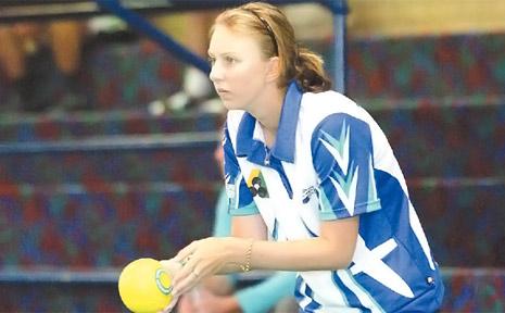 South Tweed bowler Kelsey Cottrall.