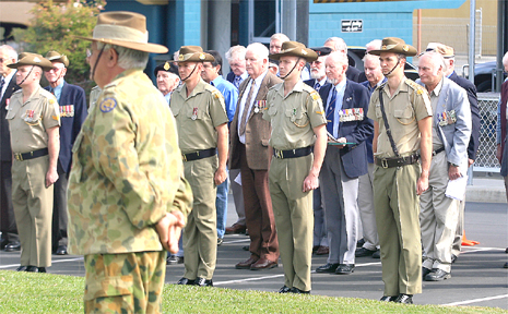 The army reserves service in Murwillumbah.