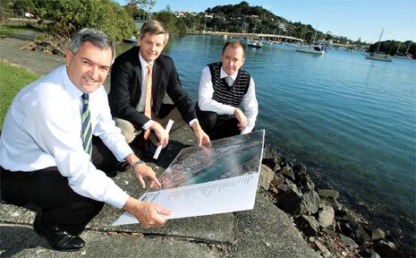 Tony Kelly, Robert McDonald and Peter Daly at Boyd's Bay.