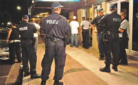 Is street violence a problem on the Sunshine Coast?