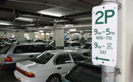 Over stay your parking time at Sunnyside and you will be fined.