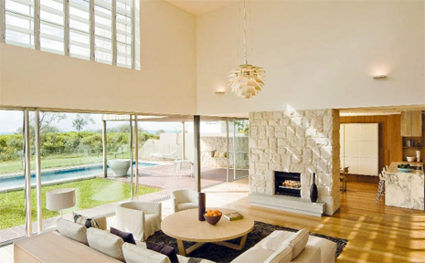The luxury interior of Katie Page's Salt Village home, that has been leased for $1500 per week.