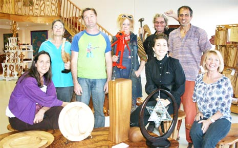PICTURED: Some of the gallery owners and artists who are involved with the Byron Bay Artists Trail.