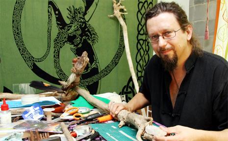 David Marks creates his magic.