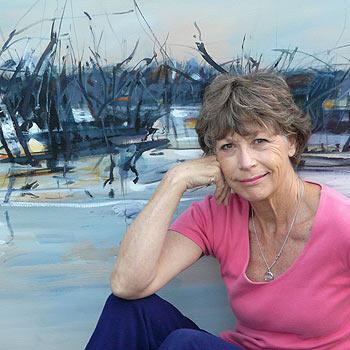 The Sunshine Coast's Pam Walpole with her work Dusk at Menindee.