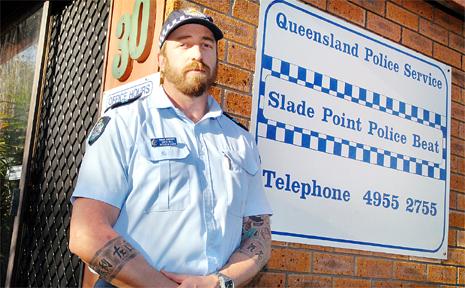 Gavin Hill is on patrol at Slade Point.