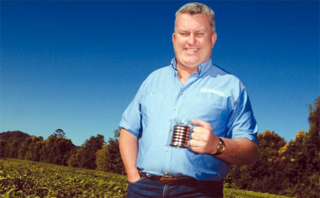 MADURA Tea's Ray Flen celebrates with a cuppa after the Murwillimbah company was nominated for a Food Challenge Award.