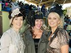 Fashions on the Field winner Jenna Borellini, centre, Jacqui Gordon, left, and Alex Whitworth model their Mackay Cup fashions.