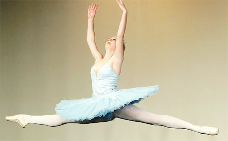 Amber Donnelly takes to the stage at the Murwillumbah Festival of Performing Arts in the classical ballet category.