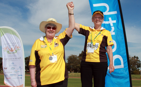 Winners at the 2008 Transplant Games in Perth.