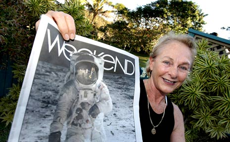 KATHLEEN Armstrong became emotional on the 40th anniversary of Neil Armstrong's first steps on the moon yesterday.