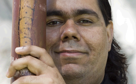Didgeridoo player William Barton will join Michael Nyman and his band at the Pilbeam Theatre on Friday night.
