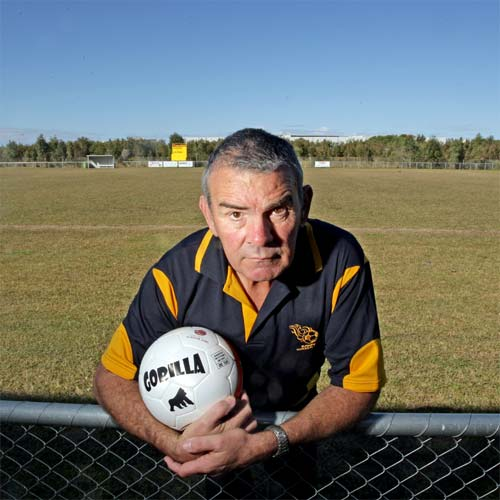 Kawana Force Football Club President Pat Penn is worried about the future of the fields threatened by new road network. Photo: Cade Mooney/183825