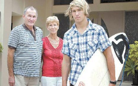 Kyle, pictured with his grandparents, says his experience on Channel Seven's World's Strictest Parents did little to change him...but he did get a free trip.