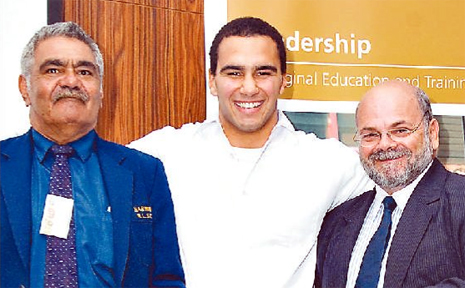 Joshua Togo, pictured centre with Keith Hall and John Lester, was recently recognised as Gili Awards Student of the Year.