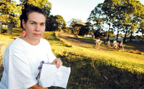 karen Newman started a petition to save the Murwillimbah BMX park.