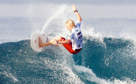 Kingscliff's Mitchell James is looking to take what he learnt in Bali to the NSW Junior Surf Titles.