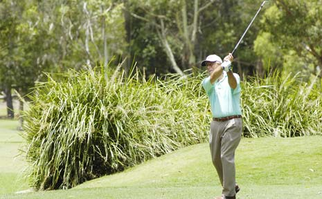 FINAL ROUND: Terry Gale at Byron Bay Golf Club, one of a number of big name golfers to have teed off at previous Seniors PGA Championship at Byron Bay.