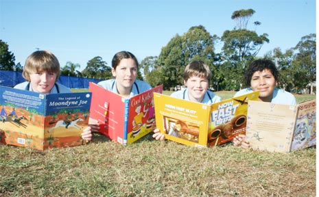 There's something for everyone at this year's Byron Bay Writers Festival. These stage three students from Byron Bay Public School have been reviewing books for the festival as part of their literacy and library program. They are (from left) Rupert Swinton 12, Zoe Sheridan 10, Thomas Carbins 11 and Aishe Angel 11.